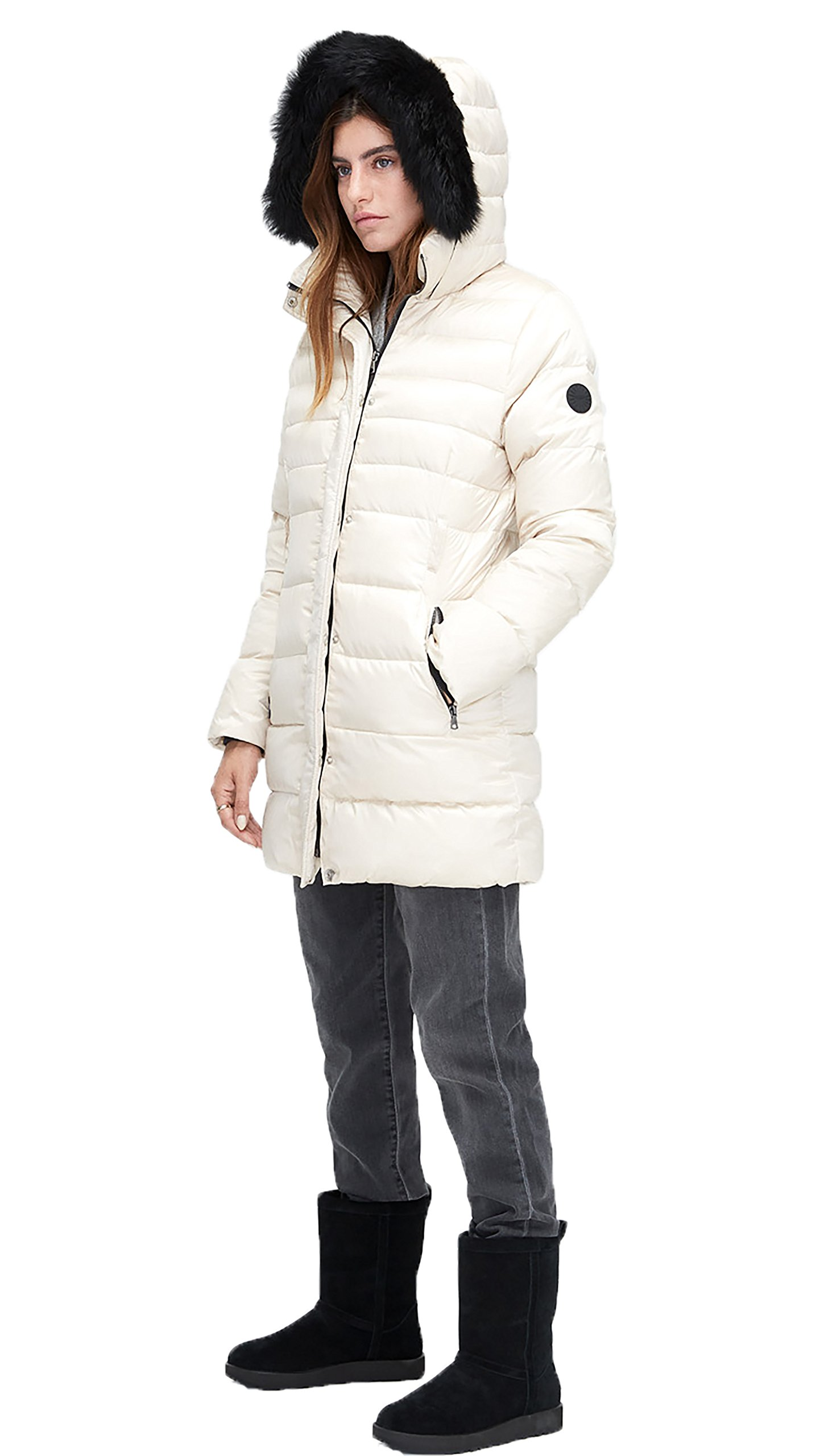 UGG Women's Belted Down Jacket In Powder, m by UGG