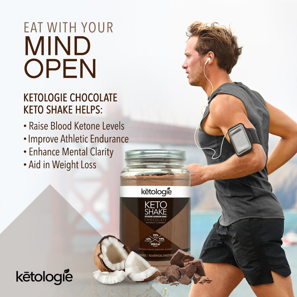 Ketologie Ultra Low Carb Protein Shake, High-Fat Keto Meal Replacement (Chocolate) by Ketologie