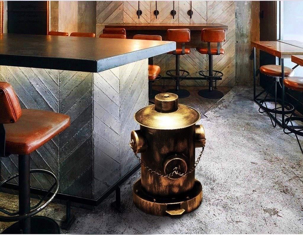 en forma de boca de incendios Restaurante Cafeter/ía Cubos de basura decorativos Arte de Hierro tipo de pedal Rechazar Bin Adornos Vintage Colecci/ón ZWD La basura de barras puede Color : Bronze