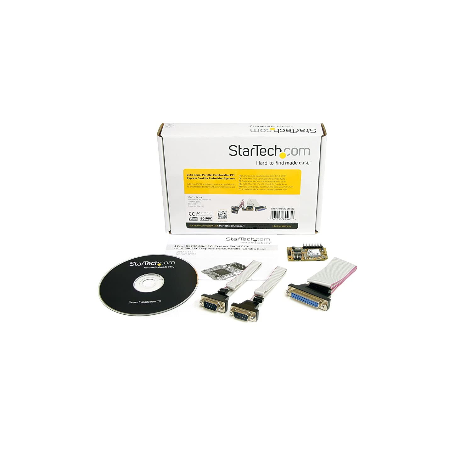 StarTech.com 2s1p Serial Parallel Combo Mini PCI Express Card for Embedded Systems (MPEX2S1P552)