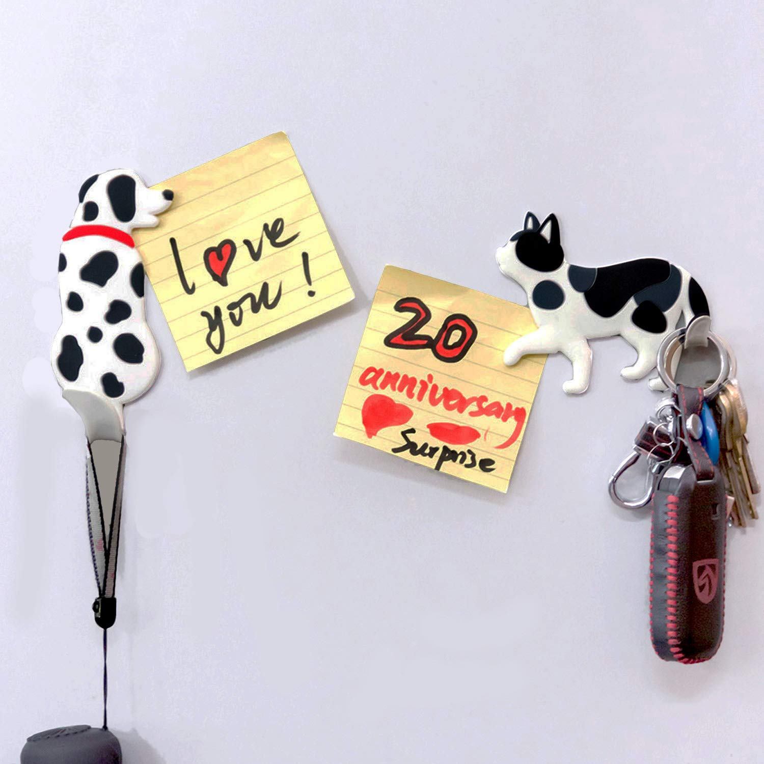 ColorCoral Fridge Magnets Whiteboard Magnets Refrigerator Magnet Fridge Stickers Multifunction Hanging Hook for Home Office Noticeboard Cabinets White Boards Door