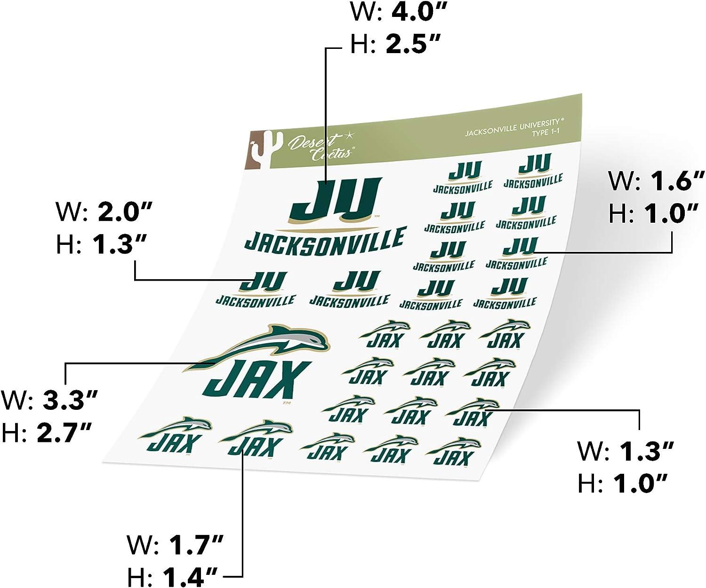Jacksonville University JU Dolphins NCAA Sticker Vinyl Decal Laptop Water Bottle Car Scrapbook Type 1-1 Sheet