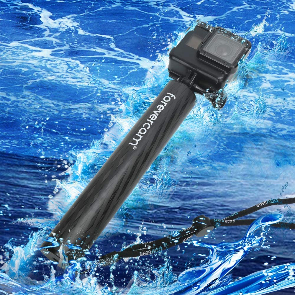 Floating Hand Grip for Action Camera,Waterproof Floating Carbon Fiber,Compatible GoPro Hero 8//7//6//5 DJI OSMO Sports Camera Akaso Geekpro Xiaomi Yi Action Cameras