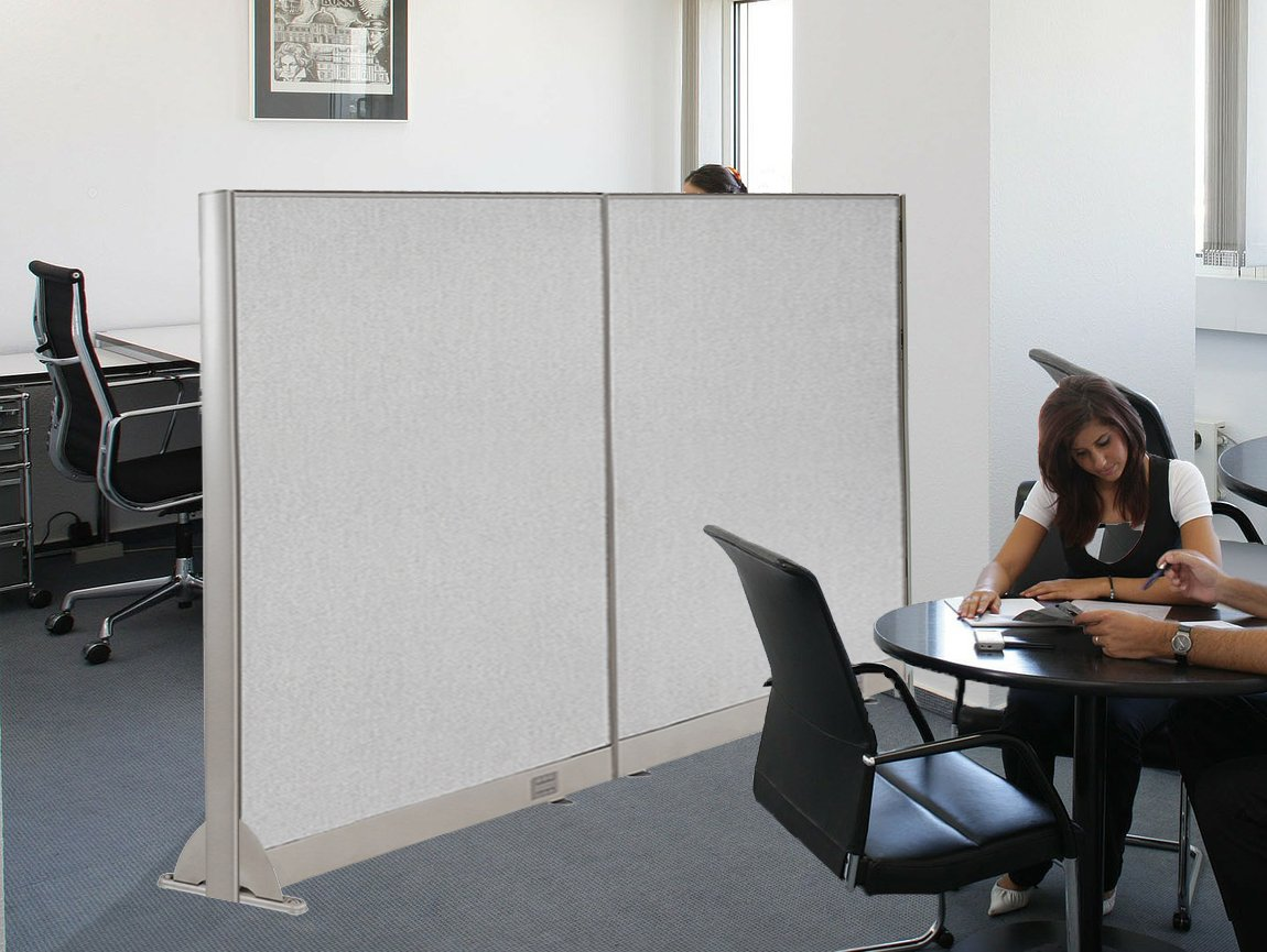 GOF Wall Mounted Office Partition, 72W x 60H / Office Panel, Room Divider (72W x 60H)