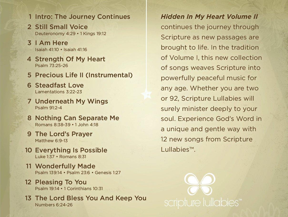 Hidden In My Heart, Volume II, A Lullaby Journey Through Scripture