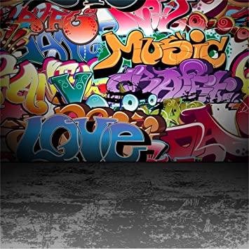 Amazoncom Csfoto 4x4ft Background For Graffiti Wall Cement Floor