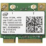 New Intel Wifi 5100 Half Size Mini PCI-e 512AN_HMW 300 Mbps Card 802.11a/b/g/n 2.4 GHz and 5.0 GHz
