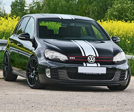 Decal sticker vinyl body racing stripe kit compatible with vw golf mk6 2008 2013