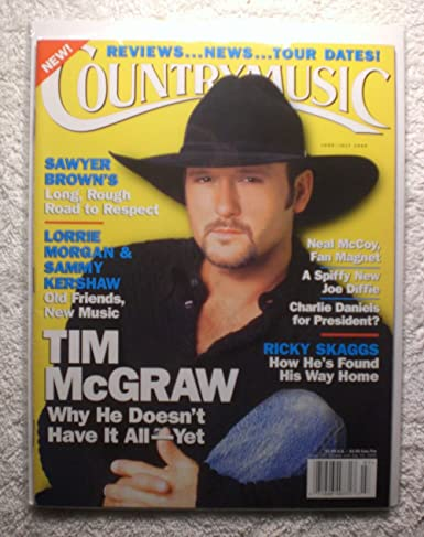 Tim Mcgraw Country Music Magazine Junejuly 1999 No Address