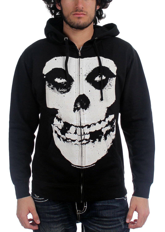 misfits classic jumbo fiend skull logo zipup hoodie - Misfits Christmas Sweater