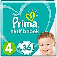 Prima Bebek Bezi Aktif Bebek 4 Beden 36 Adet Maxi Paketi