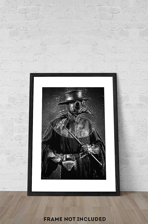 The Dapper Doctor Print Plague Doctor Goth Art Print Spooky Art Dark Art  Decor  Picture creepy cute Victorian Art Creepy Art