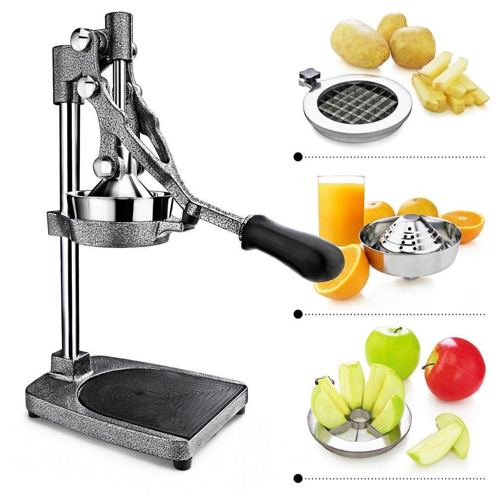 Artaste 46861 3-in-1 Citrus, Enameled Grey, Manual Juicer