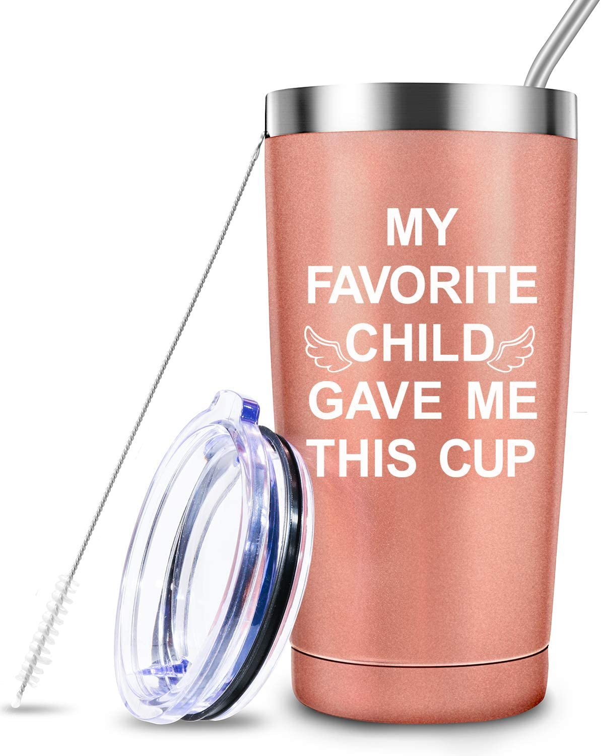 Kids For Parents Present Idea Mom Gifts Birthday Gift For Mom From Daughter Son 20 Ounce Tumbler For Grandma Mama Women My Favorite Child Gave Me This Cup Storage Organization Travel