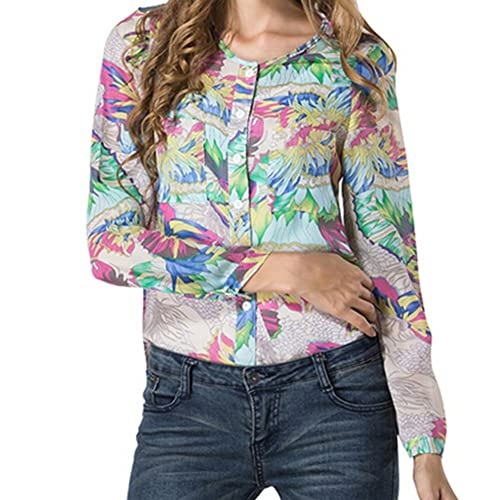 LOBZON - Camisas - Floral - con botones - para mujer