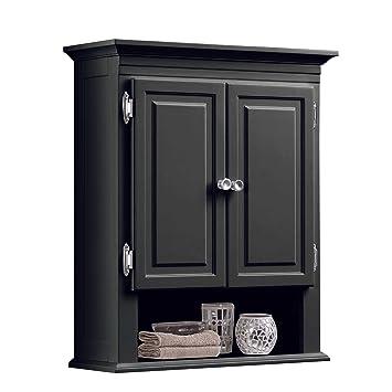 amazon com wakefield 3 shelf with 2 doors bathroom wall mount rh amazon com Bathroom with Wall Shelving Rails Bathroom Wall Fireplaces