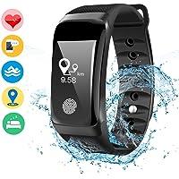 DAMIGRAM Montre Connecté Tracker d'Activité, Bracelet Connectée Traqueur d'Activité Podomètre Cardiofréquencemètre Etanche IP67 Smartwatch, Compatible iOS et Androïd
