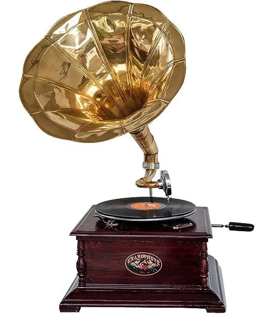 Nostalgia gramófono gramófono Embudo de Estilo Antiguo ...