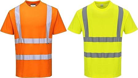 Portwest S170ORRXXXL - Camiseta de algodón (talla S, 3XL, talla S), color naranja: Amazon.es: Industria, empresas y ciencia