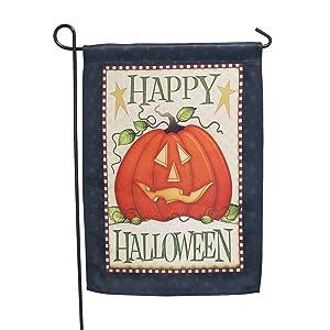 LAYOER Home Garden Flag House Double Sided Happy Halloween Pumpkin (13 x 18 Inch)