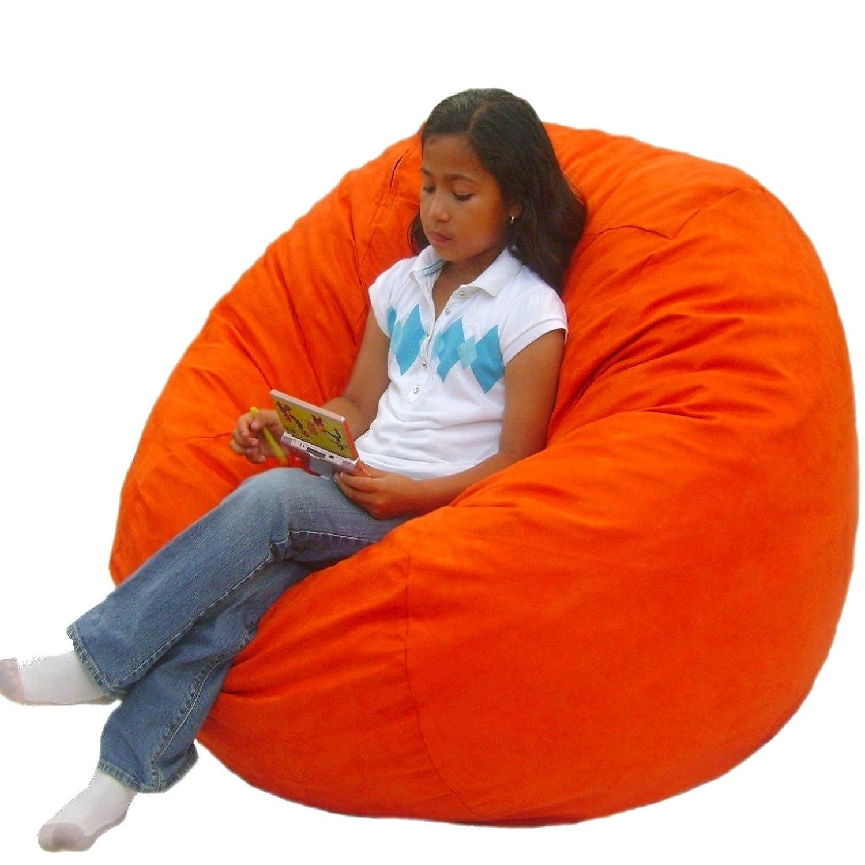 Amazon Cozy Sack 3 Feet Bean Bag Chair Medium Pumpkin