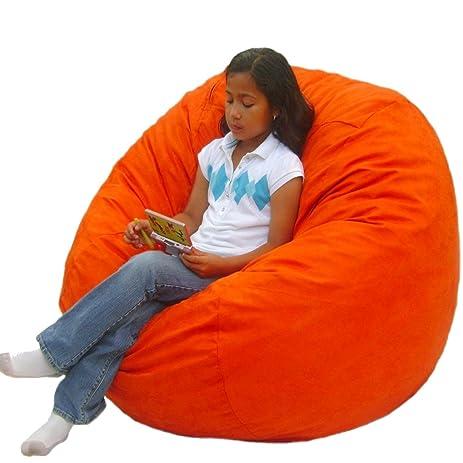 Cozy Sack 3 Feet Bean Bag Chair Medium Pumpkin
