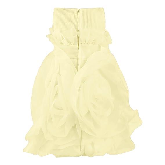 Katara Vestido de fiesta, disfraz para niña, gasa transparente, diseño de rosa amarillo amarillo 104/110 (Etikett 110): Amazon.es: Juguetes y juegos