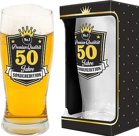 Abc Casa Cerveza Cristal 0,5 l con Texto Brillante para 50 ...