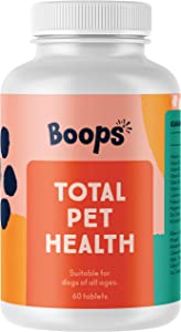 Boops Total Pet Health Multivitamins - Vitamins for Dogs to Support Bone, Joint, Skin, Coat, Digestive and Eye Health - Daily Supplement for Any Canine Size & Age - Maple Bacon Flavor - 60 Tablets