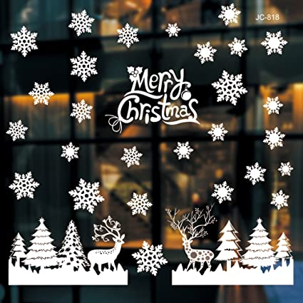 christmas window decorations clings chritmas decorations home shop window coverings decor wall decals stickers holiday - Christmas Window Decorations Amazon