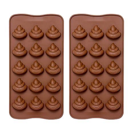 Emoji Caca molde de silicona – ComKit 15-cavity Cute Funny Emoji caca emoción Baking