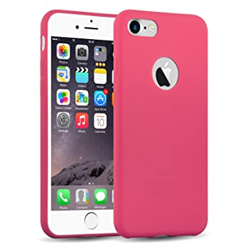 Funda iPhone 8, iPhone 7 Case, JAMMYLIZARD Carcasa TPU Ultra Fina [ Jelly Case ] De Goma Silicona Back Cover, Rojo