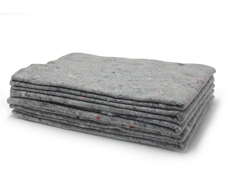 10 x Packdecken 330g/m² - grau, 130x190cm Made in Germany Strapazierfähige Umzugsdecken Möbeldecken Recycling-Material Transport Decken Allzweckdecken Primaflor - Ideen in Textil