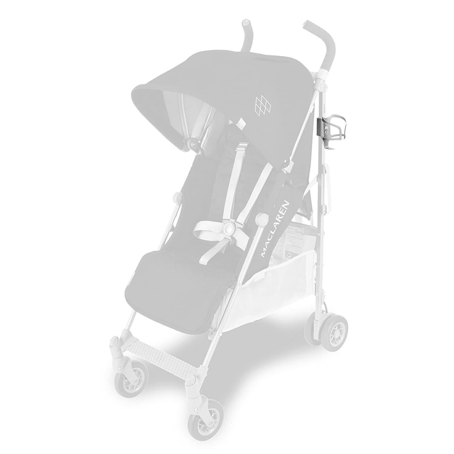 Maclaren Cupholder- Must Have Stroller Accessory Easily securely attaches to The Frame of All Maclarens and All Umbrella-fold Stroller Brands Fits Cups and Bottles with 2.9in//7.4cm Circumference.