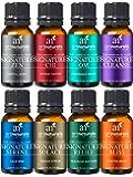 ArtNaturals Signature Blend Essential Oils Set for Diffuser (8 x 10ml) 100% Pure Natural Oil -Therapeutic Grade…