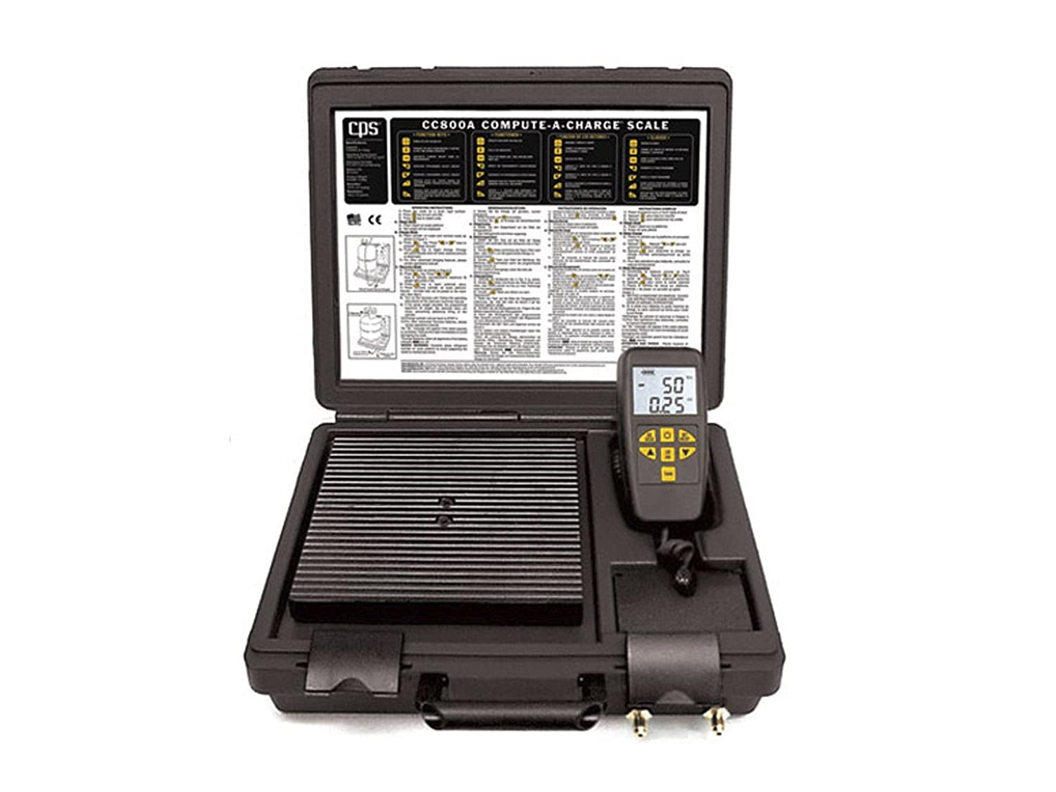 CPS CC220 Refrigerant Charging//Recovery Scale up to 220 Lbs Capacity