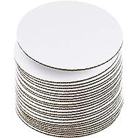 Tableros para tartas de 24 cm, color blanco [24 paquetes] redondos, tabla desechable para tartas, cartón con base para…