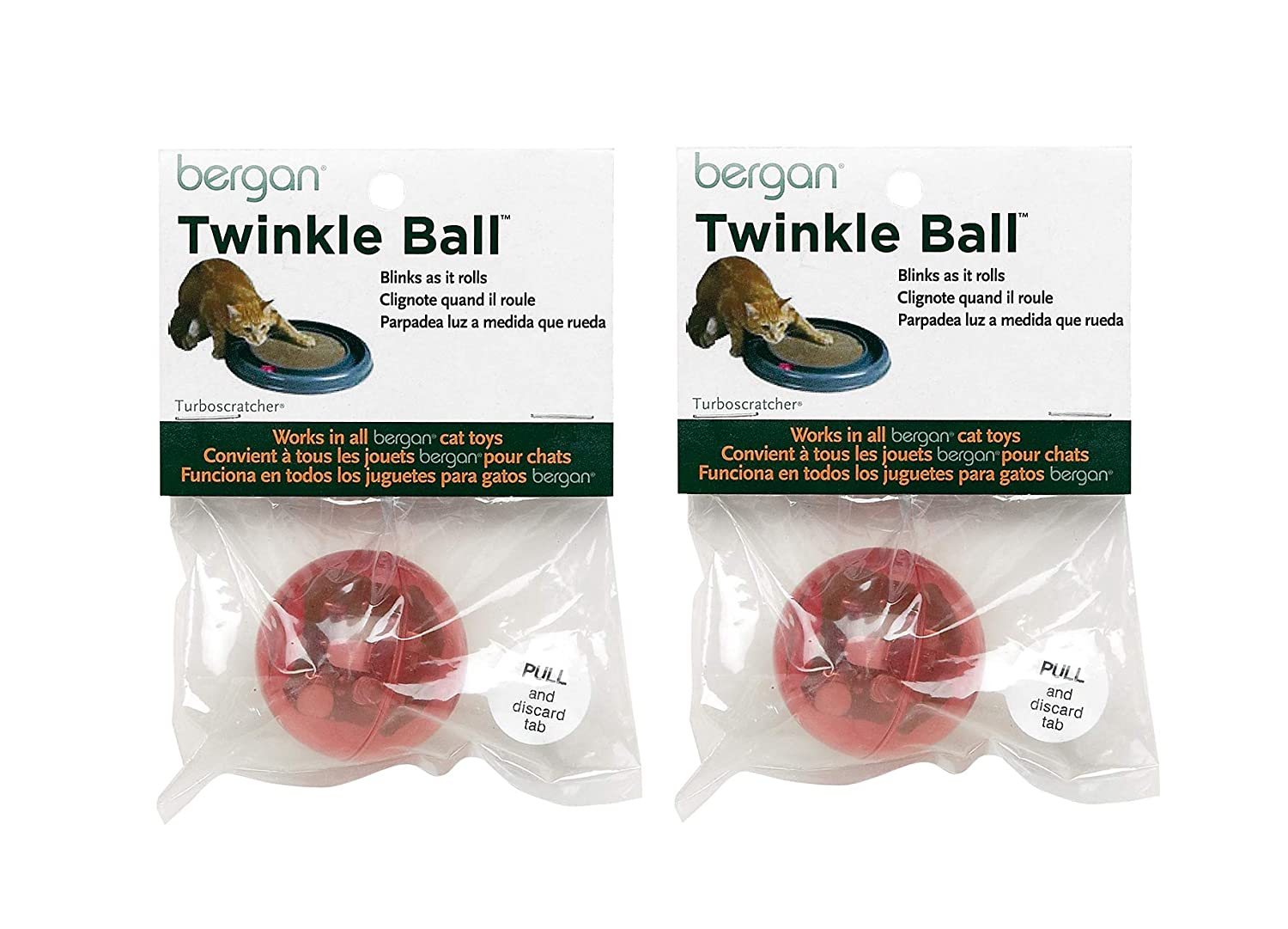Pet Supplies : Bergan Twinkle Replacement Ball, Colors Vary 2-Pack : Amazon.com