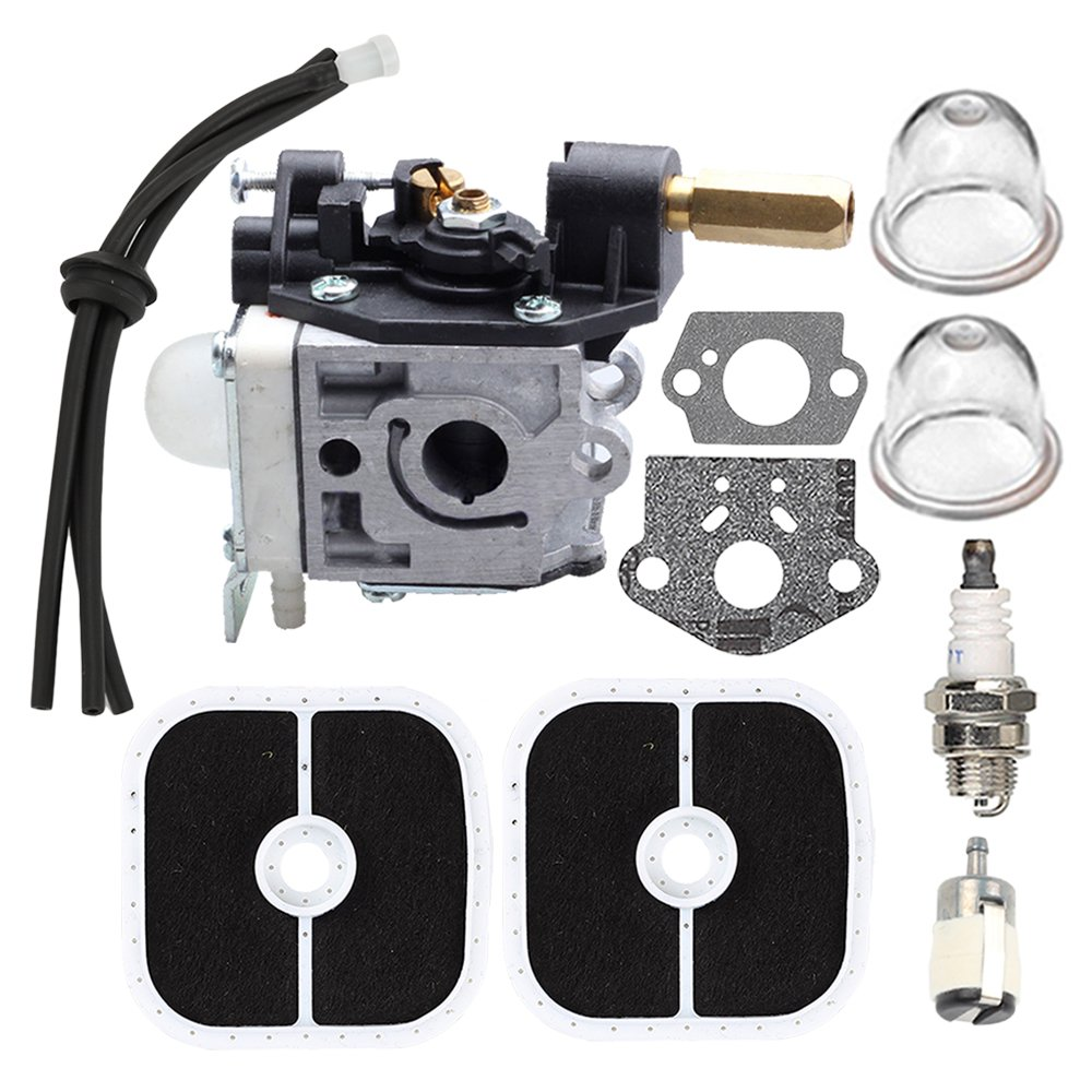 Butom SRM-266 Carburetor with Air Filter Tune-up Kit for Echo SRM-266S SRM-266T SRM-266U PAS-266 PPT-266 PPT-266H PE-266 PE-266S SHC-266 HCA-266 Trimmer Weedeater RB-K112