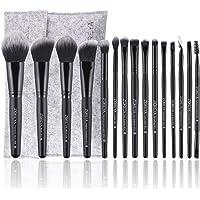 15Pcs Makeup Brushes Set Professional Synthetic Bristles Foundation Powder Blush Cosmetic Brushes With Case Zoreya