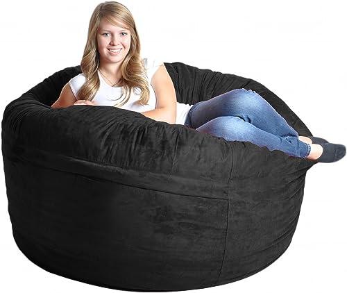 SLACKER sack 5-Feet Foam Microsuede Beanbag Chair