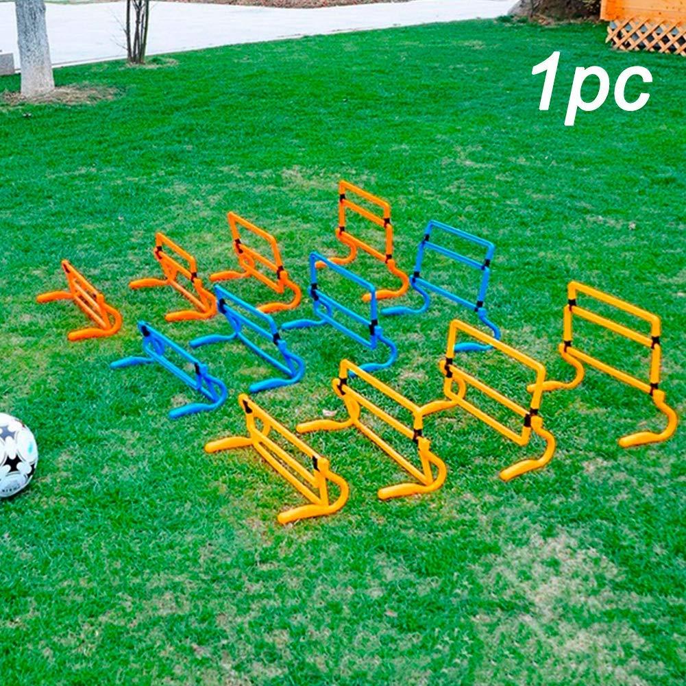 xiegons3 Geschwindigkeits-Training H/ürde Pe Material Verstellbare Sport Fu/ßball Training H/ürde Schnell Beinarbeit Bohrer f/ür Beinarbeit Training und Foot-Speed Verbesserung Packung mit 5 St/ück