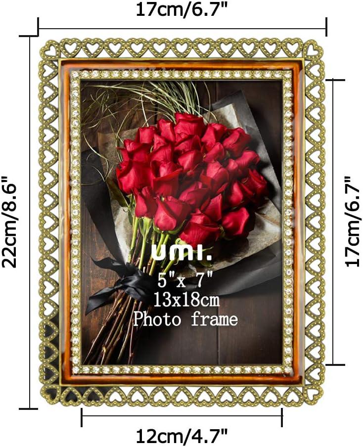 Cadre photo blanc brillant Baroque Cadre Ornement 23x18 Cadre Photo Shabby Chic