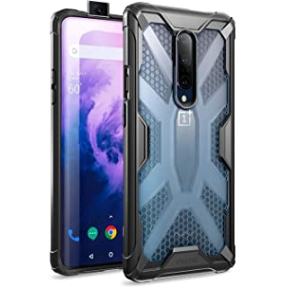 Poetic OnePlus 7 Pro Case, Premium Hybrid Protective Clear Bumper Cover, Rugged Lightweight, Military Grade Drop Tested, Affinity Series, for OnePlus 7 Pro (2019), Frost Clear/Black