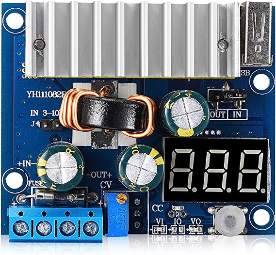 FP5139 100 W DC Boost Step-up Réglable Tension Convertisseur DEL Voltmètre
