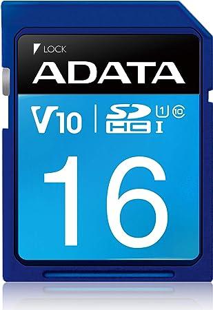 A-Data ASDH16GUICL10-R Premier - Tarjeta de Memoria (Clase 10, SDHC, UHS-I)
