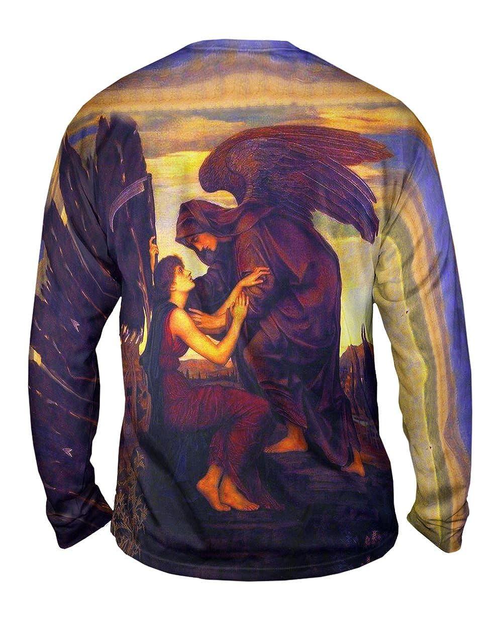 Angel Of Death Yizzam- Evelyn De Morgan 1890 -TShirt- Mens Long Sleeve