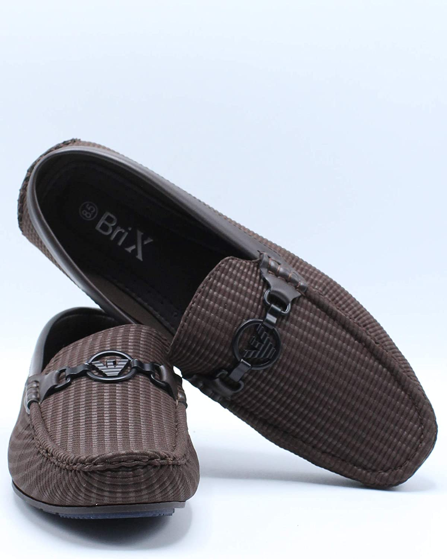 Brixton Mens Ornament Driving Shoe Black