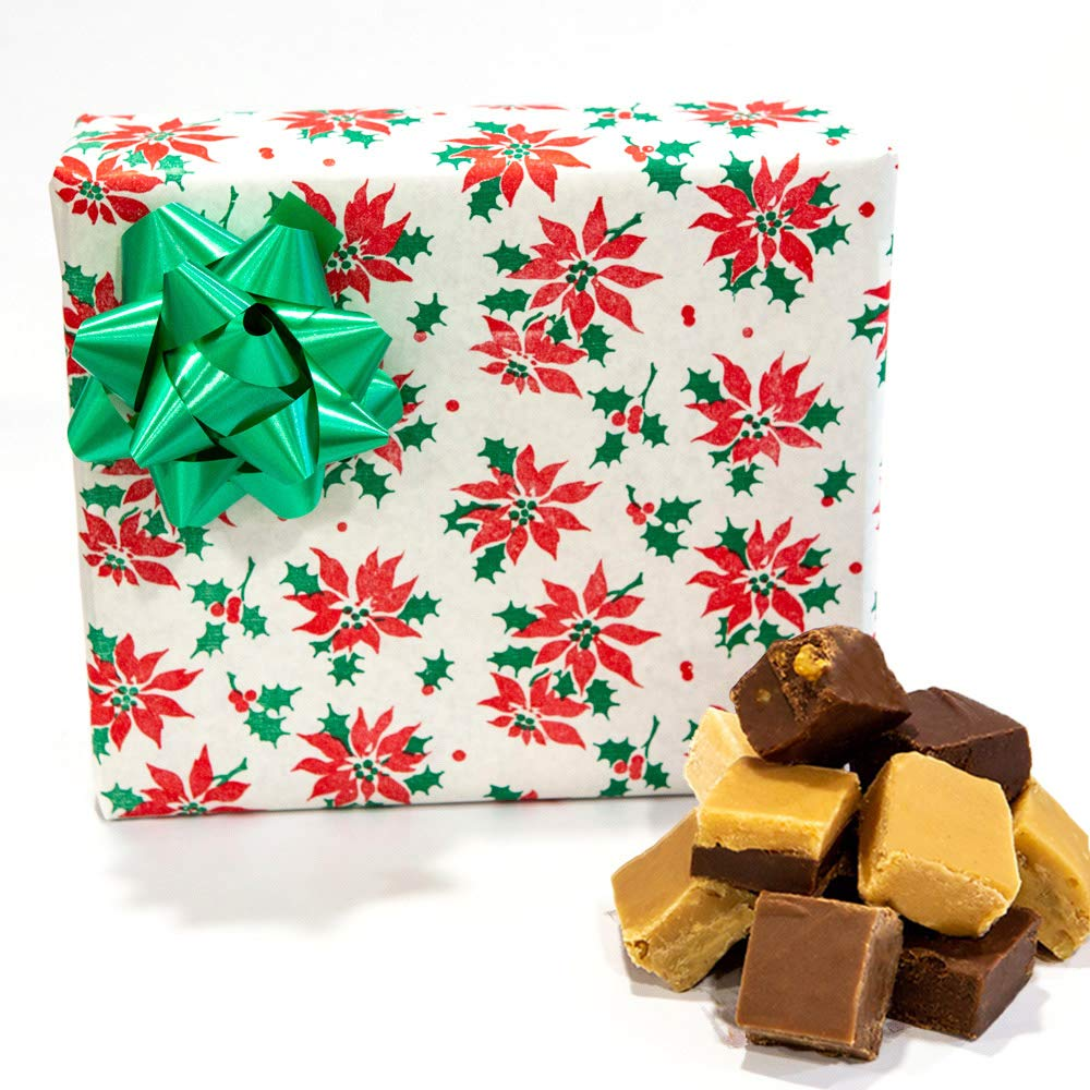 Christmas Poinsettia - Assorted Fudge Gift Box - Hall's Candies by Hall's Candies