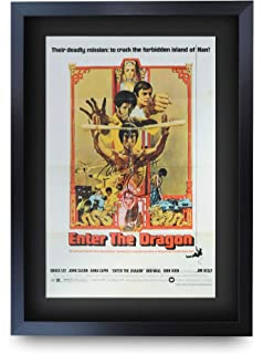 Bruce Lee Gift Signed A4 Printed Autograph Print Enter The Dragon Gifts Photo